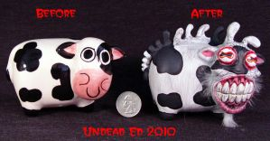 Mutated Cow ooak compare by Undead-Art