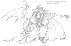 Lineart -Vincent Valentine- by tomuyu