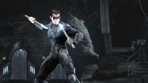 Nightwing in Injustice: Gods Among Us by nhrynchuk