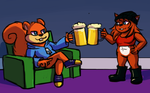 CONKER AND LILLY ARE BOOZEHOUNDS by HedgehodgeMonster
