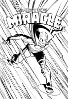 MisterMiracle Inked! by angryrooster
