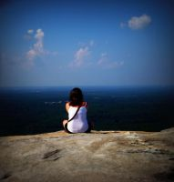 Sitting on top of the world by Selena-Micka