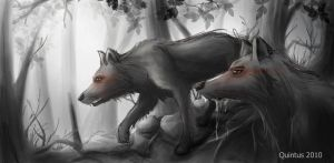 stalking wolves by QuintusCassius