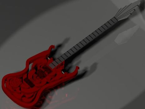 Ruby Rose Guitar [WIP] by ZahlenOum