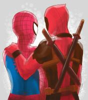 Spideypool by viizvictory