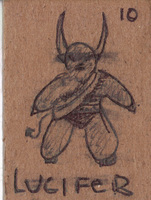 Chibi Lucifer CBW INKED by EclecticWhiteRaven