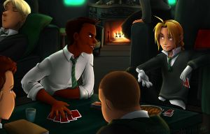 Friendly Game of Poker by kra
