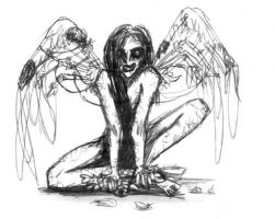 Scabbed Wings by ivy-cinder