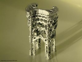 Inverted cathedral - 3D printed fractal by bib993