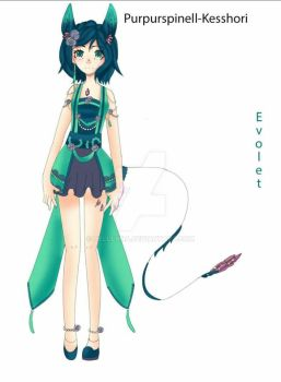 my oc evolet she is a closed species on Facebook  by hellehna