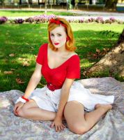 Miss Red Ribbon 3 by pin-up-on-the-road