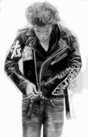 RPattinson-In Leather N Jeans by CezLeo