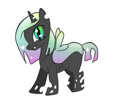 Changeling filly adoptie by Fortitudine-Shelter
