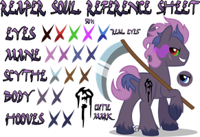 Reaper Soul Reference Sheet by equinepalette