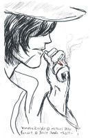 Touga is smoking again by WAH-HOO