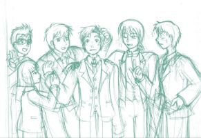 Ghibli Celebration Boys rough by rufiangel