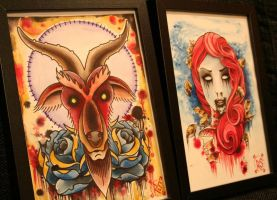 2 paintnings from our studio by wargland