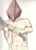 Colored Pyramid Head by darkwingsaloft