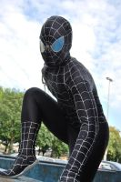 Black Spider-man posing by Lakonnia
