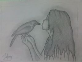 the crow kiss by voyagerartworkdesign