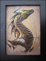 Yellow 'n Gold Dragon Portrait by Kamakru