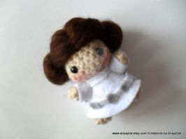 Princess Leia Amigurumi by AnyaZoe