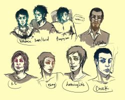 Vdez Characters by andrahilde