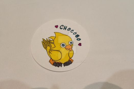 Chocobo Button by Akcire29