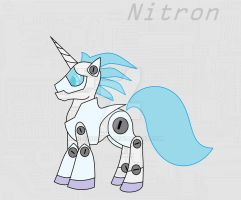 Nitron the Cyber Pony by Bioblood