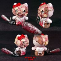 Hello Evil Kitty 7 LEATHERFACE by Undead-Art