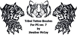 Tribal Tattoo Brushes by Songficcer
