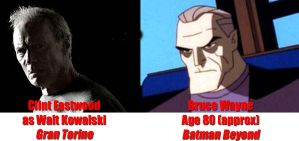 Clint Eastwood and Bruce Wayne by Halberd3000