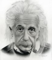 Albert Einstein by d-villarreal