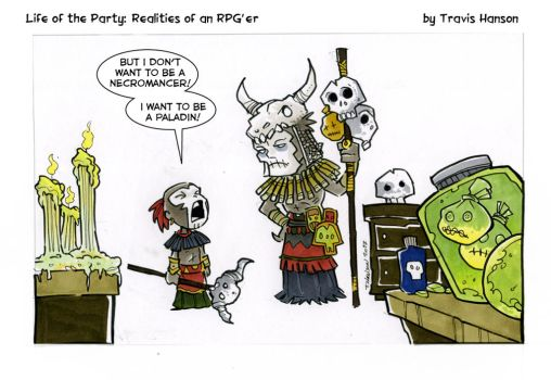 necromancer daddy issues.... rgp comic by travisJhanson