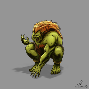 STREET FIGHTER II: Blanka (COLOR) by CrescentDebris