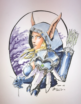 Sylvanas Windrunner Copic Sketch by G21MM