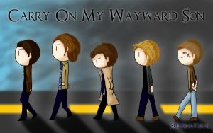 SPN - Carry On My Wayward Son by KaitousBlackWings