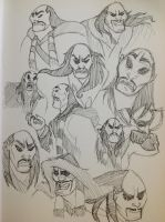 Shan Yu Sketchdump by bluecowmonkey