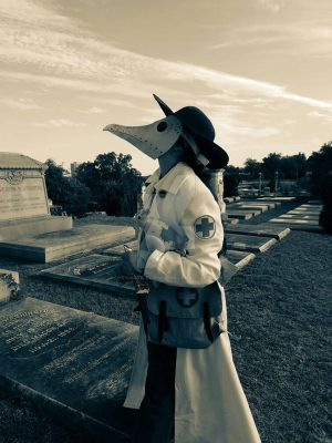 The Plague Medic at Rose Hill Cementary  in Macon  by chrismata-dimensions