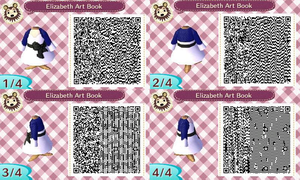 Animal Crossing QR Code Elizabeth Art Book by TeaganLouise
