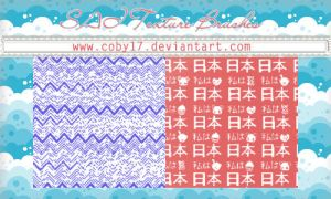 Zigzags and Japanese Letters Brushes for SAI by Coby17