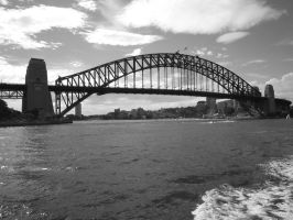 Harbour Bridge in Grayscale by BrendanR85