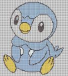 Piplup Pattern by KittyBywaters