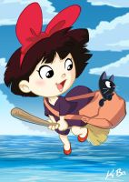 Studio Ghibli: Kiki's Delivery Service Art Card by kevinbolk