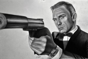 Daniel Craig-James Bond by ercansebat