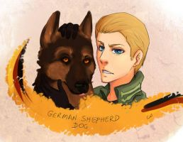 German Shepherd dog by EmjayxD