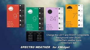 Spectro Weather (MULTICOLOR) for xwidget by Jimking