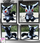 Chibi Mightyena Plushie :Sold: by Ami-Plushies