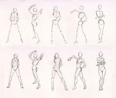 Sketches 28 - Woman standing practice by Azizla