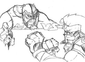 Azrael vs Kid Atomic By Infectedlobster by Azrael-Luchador